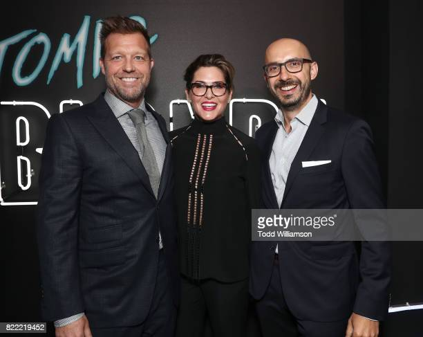 Director David Leitch Producer Kelly McCormick and Focus Features Chairman Peter Kujawski attend the premiere Of Focus Features' 'Atomic Blonde' at...