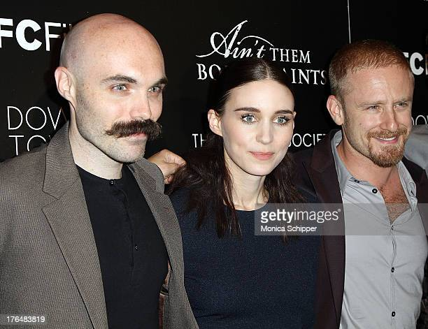 Director David Lowery actress Rooney Mara and actor Ben Foster attend the Downtown Calvin Klein with The Cinema Society screening of IFC Films'...