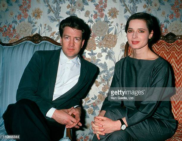 Director David Lynch and Isabella Rossellini attend ShoWest Convention on February 24 1988 at Bally's Hotel and Casino in Las Vegas Nevada