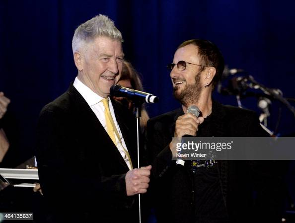 Director David Lynch and musician Ringo Starr appear onstage at the David Lynch Foundation's benefit honoring Ringo Starr with the 'Lifetime of Peace...