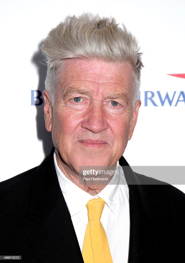 Director David Lynch arriving at The Music of David Lynch Benefiting the 10th anniversary of The David Lynch Foundation at The Ace Hotel Theater on April 1, 2015 in Los Angeles, California.