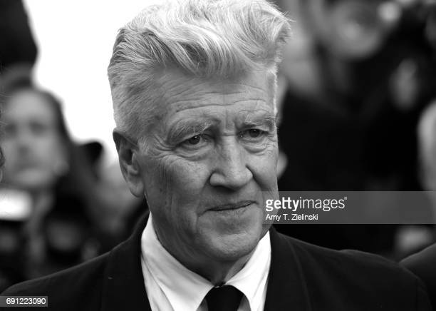 Director David Lynch attends the 'Twin Peaks' screening during the 70th annual Cannes Film Festival at Palais des Festivals on May 25 2017 in Cannes...