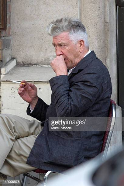 Director David Lynch is sighted at the 'Plougastel' restaurant on March 28 2012 in Paris France