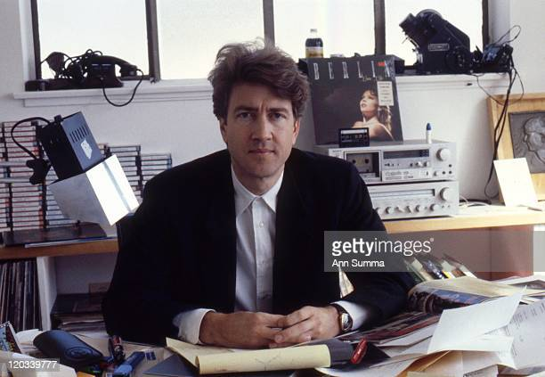Director David Lynch poses for a portrait session in his office in Los Angeles California in October 1984