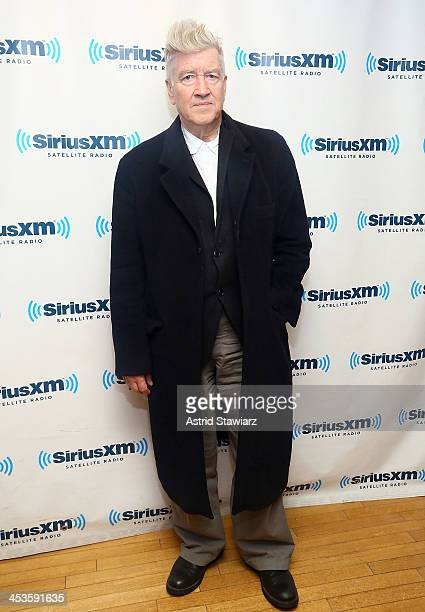 Director David Lynch poses for photos during 'Success without Stress with Bob Roth' at the SiriusXM Studios on December 4 2013 in New York City