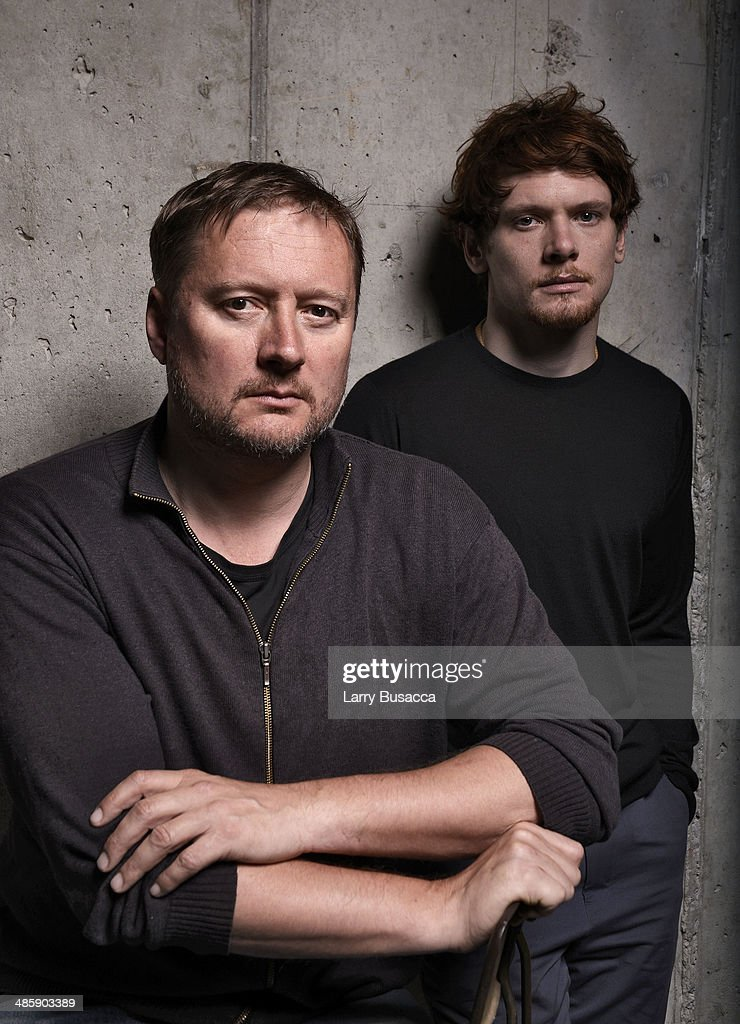 Director David Mackenzie and actor Jack O'Connell from 'Starred Up' pose for the Tribeca Film Festival Getty Images Studio on April 21 2014 in New...