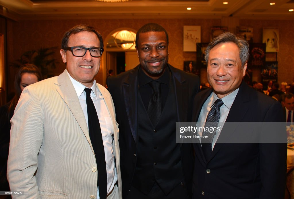 Director David O. Russell, actor Chris Tucker, and director Ang Lee attend the 13th Annual AFI Awards at Four Seasons Los Angeles at Beverly Hills on January 11, 2013 in Beverly Hills, California.