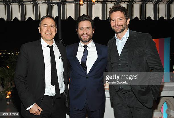 Director David O Russell actors Edgar Ramirez and Bradley Cooper attend GQ And Dior Homme Private Dinner In Celebration Of GQ's 20th Anniversary Men...