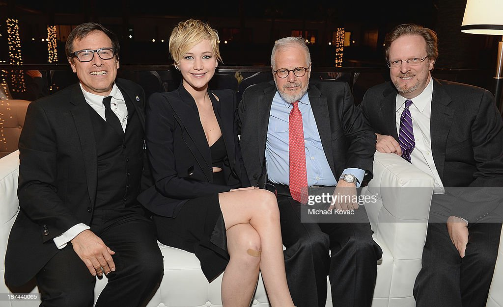 Director David O Russell actress Jennifer Lawrence editor Jay Cassidy and President CEO of The American Film Institute Bob Gazzale attend the...