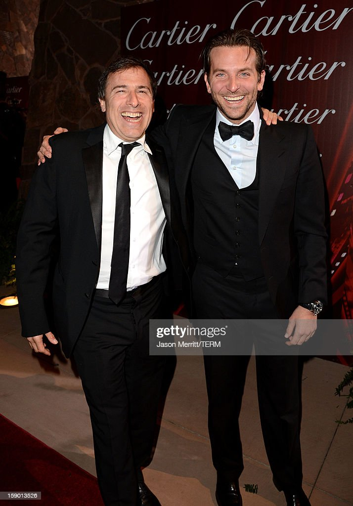 Director David O. Russell and actor Bradley Cooper arrive at the 24th annual Palm Springs International Film Festival Awards Gala at the Palm Springs Convention Center on January 5, 2013 in Palm Springs, California.
