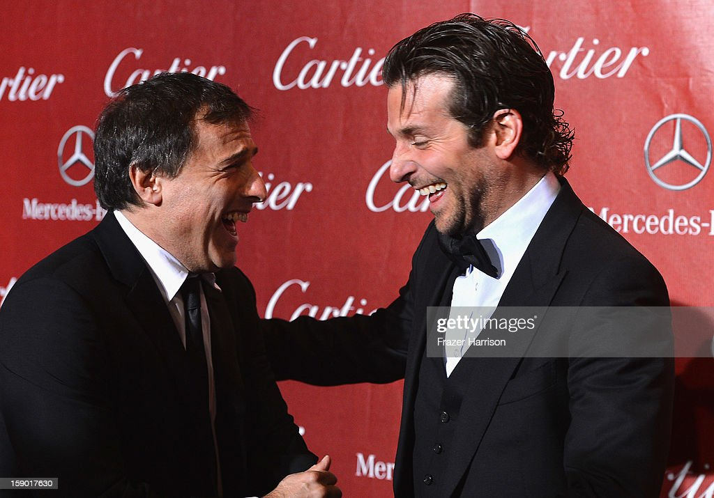 Director David O. Russell and Actor Bradley Cooper arrive at The 24th Annual Palm Springs International Film Festival Awards Gala on January 5, 2013 in Palm Springs, California.