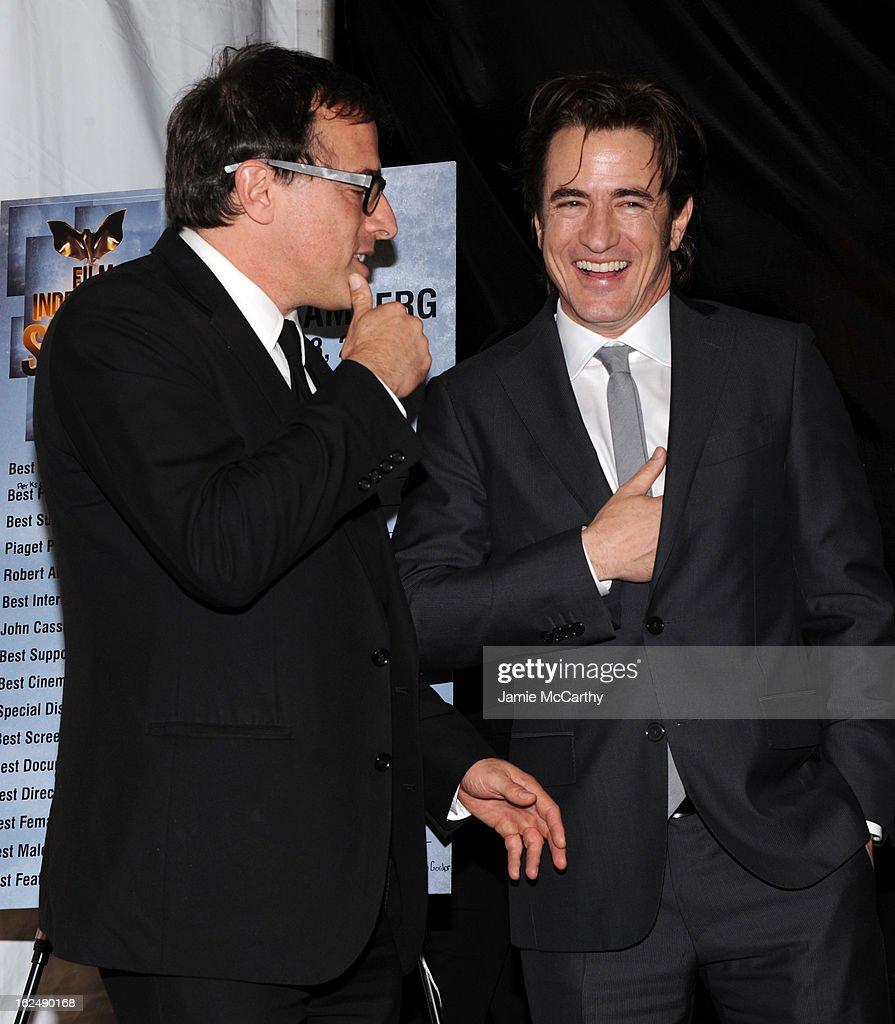 Director David O. Russell (L) and actor Dermot Mulroney attend the 2013 Film Independent Spirit Awards After Party hosted by Microsoft Windows Phone at The Bungalow at The Fairmont Hotel on February 23, 2013 in Santa Monica, California.