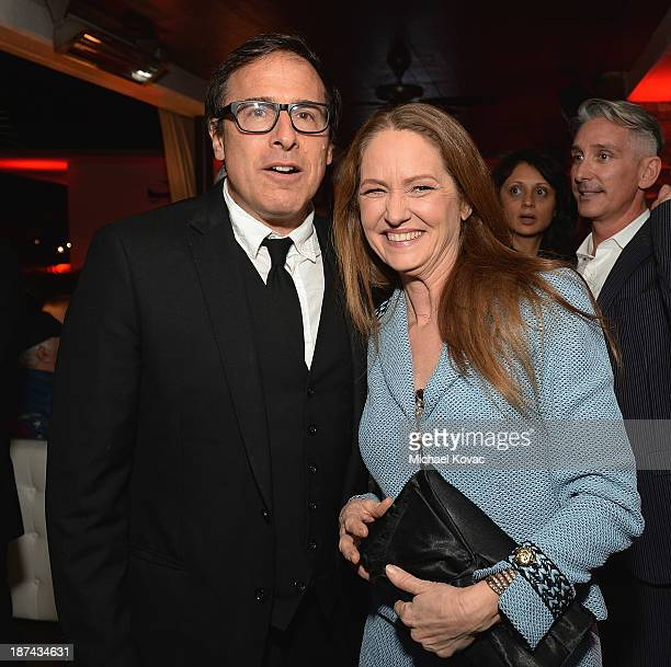 Director David O Russell and actress Melissa Leo attend the reception for the Special Tribute An Evening With David O Russell at AFI FEST 2013...