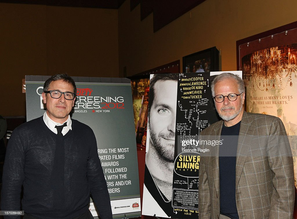 Director David O Russell and film editor Jay Cassidy attend the 'Silver Linings Playbook' screening during the 2012 Variety Screening Series at...
