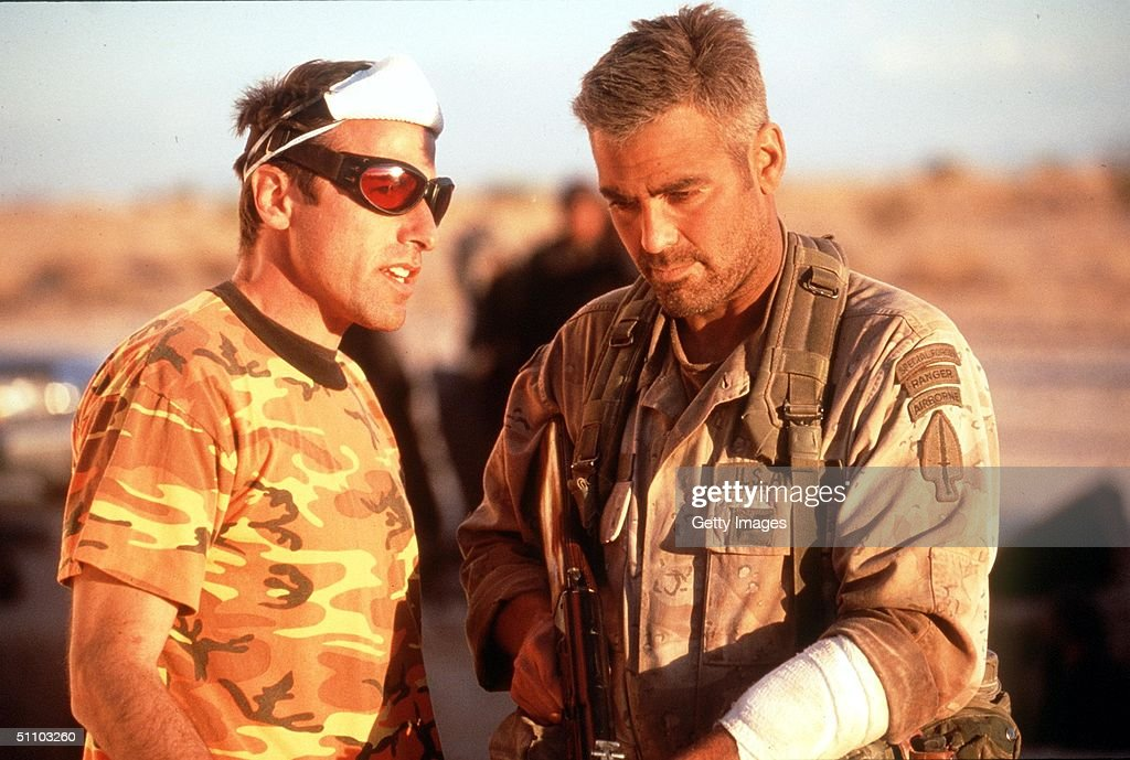 Director David O Russell And George Clooney In 'Three Kings' '99 Wb And Village Roadshow Film Limited