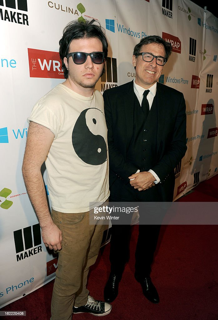 Director <a gi-track='captionPersonalityLinkClicked' href=/galleries/search?phrase=David+O.+Russell&family=editorial&specificpeople=215306 ng-click='$event.stopPropagation()'>David O. Russell</a> (right) and his Son Matthew arrive at TheWrap 4th Annual Pre-Oscar Party at Four Seasons Hotel Los Angeles at Beverly Hills on February 20, 2013 in Beverly Hills, California.