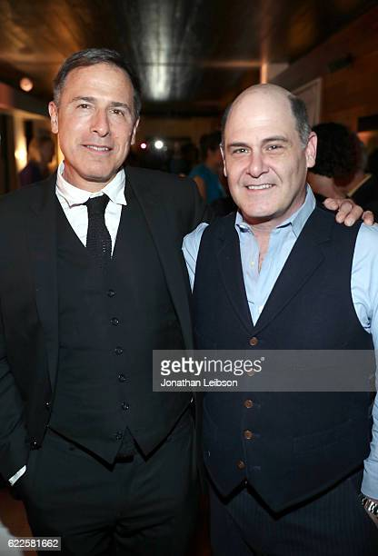 Director David O Russell and writer Matthew Weiner attend The 20th Anniversary of 'Flirting With Disaster' at AFI Fest 2016 presented by Audi at The...