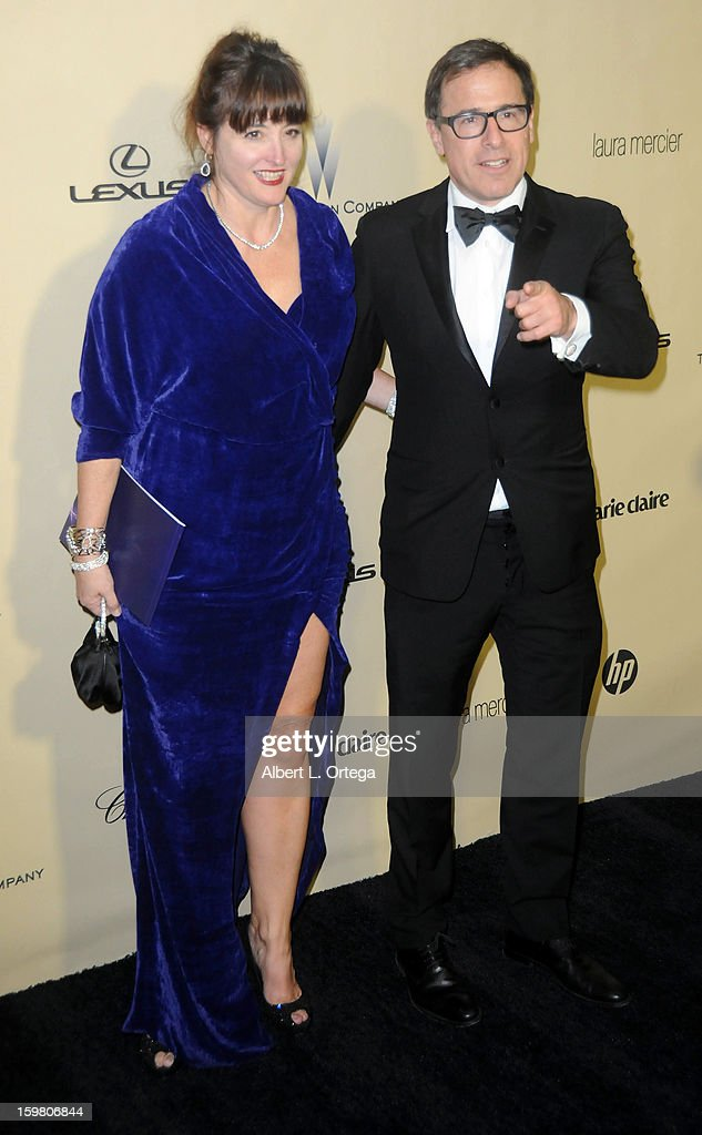 Director David O. Russell arrives for the Weinstein Company's 2013 Golden Globe Awards After Party - Arrivals on January 13, 2013 in Beverly Hills, California.