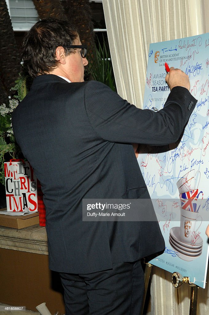 Director <a gi-track='captionPersonalityLinkClicked' href=/galleries/search?phrase=David+O.+Russell&family=editorial&specificpeople=215306 ng-click='$event.stopPropagation()'>David O. Russell</a> attends the 2014 BAFTA Los Angeles Awards Season Tea Party presented by Jaguar Land Rover and Mulberry at the Four Seasons Hotel Los Angeles at Beverly Hills on January 11, 2014 in Los Angeles, California.