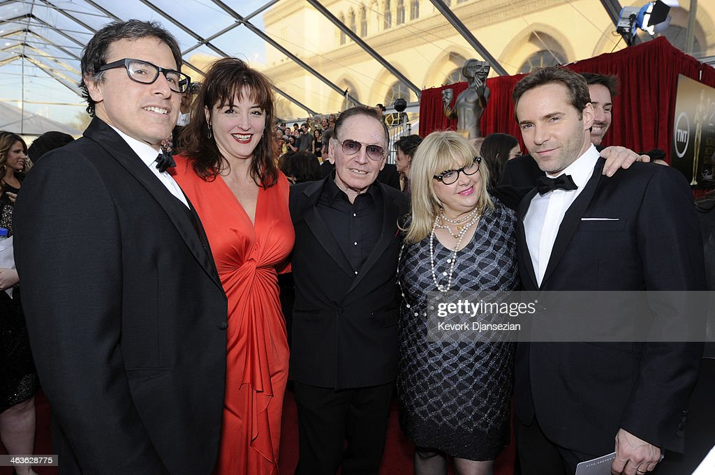 Director <a gi-track='captionPersonalityLinkClicked' href=/galleries/search?phrase=David+O.+Russell&family=editorial&specificpeople=215306 ng-click='$event.stopPropagation()'>David O. Russell</a>, Holly Davis, actors Paul Herman, Colleen Camp and <a gi-track='captionPersonalityLinkClicked' href=/galleries/search?phrase=Alessandro+Nivola&family=editorial&specificpeople=240468 ng-click='$event.stopPropagation()'>Alessandro Nivola</a> attend the 20th Annual Screen Actors Guild Awards at The Shrine Auditorium on January 18, 2014 in Los Angeles, California.