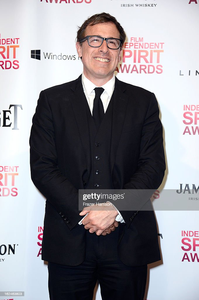 Director <a gi-track='captionPersonalityLinkClicked' href=/galleries/search?phrase=David+O.+Russell&family=editorial&specificpeople=215306 ng-click='$event.stopPropagation()'>David O. Russell</a> poses in the press room during the 2013 Film Independent Spirit Awards at Santa Monica Beach on February 23, 2013 in Santa Monica, California.