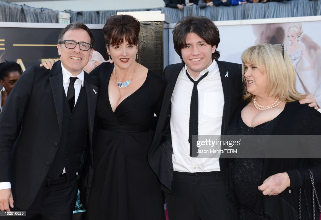 Director David O. Russell (L), son Matthew Russell (2nd R) and guests arrive at the Oscars at Hollywood & Highland Center on February 24, 2013 in Hollywood, California.
