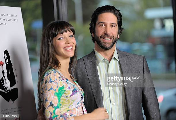 Director David Schwimmer and wife Zoe Buckman attend the premiere of Millennium Entertainment's 'TRUST' at the Director's Guild of America on March...