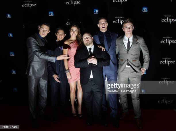 Director David Slade members of the cast Alex Meraz Booboo Stewart Nikki Reed Kellan Lutz and Xavier Samuel as they arrive for the premiere of The...