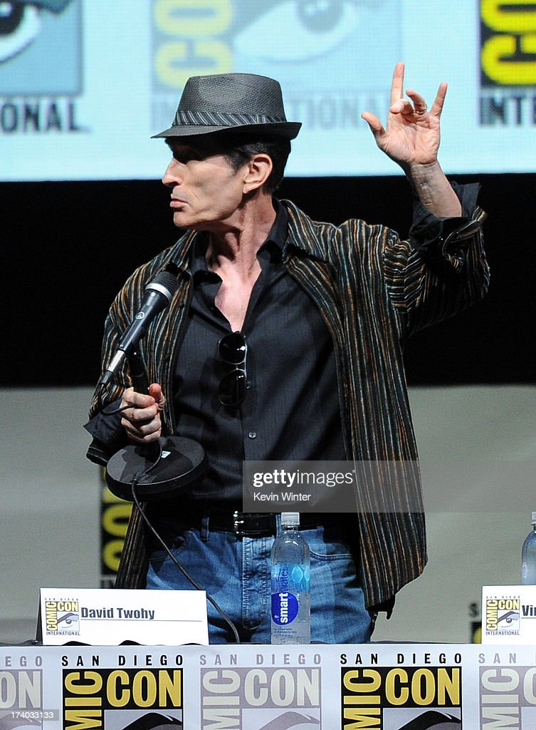 Director David Twohy speaks onstage at the 'Kick-Ass 2' and 'Riddick' Panels during Comic-Con International 2013 at San Diego Convention Center on July 19, 2013 in San Diego, California.
