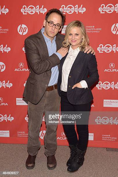 Director David Wain and actress Amy Poehler attend the 'They Came Together' premiere at Eccles Center Theatre during the 2014 Sundance Film Festival...