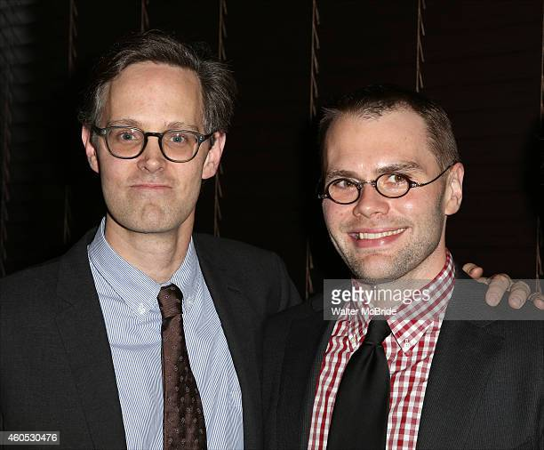 Director Davis McCallum and Playwright Samuel D Hunter attend the Opening Night After Party for 'Pocatello' at Heartland Brewery on December 15 2014...