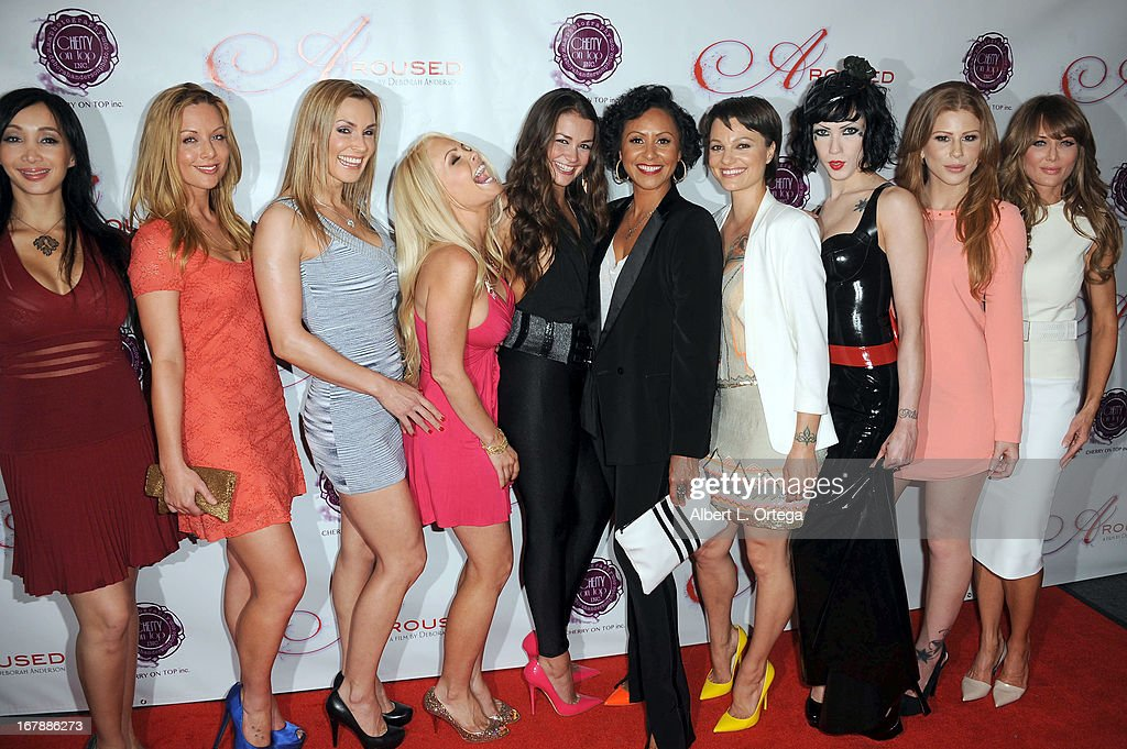 Director Deborah Anderson with the cast of 'Aroused' arrive for the Premiere Of 'Aroused' held at Landmark Nuart Theatre on May 1, 2013 in Los Angeles, California.