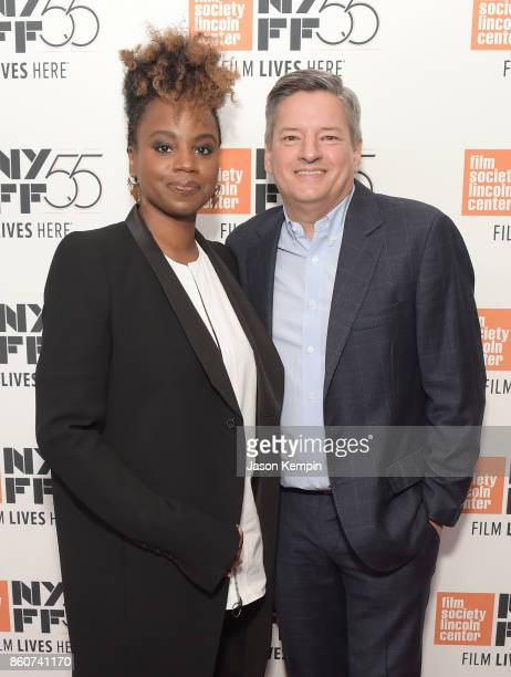 Director Dee Rees and Chief Content Officer at Netflix Ted Sarandos attend the 55th New York Film Festival screening of 'Mudbound' at Alice Tully...