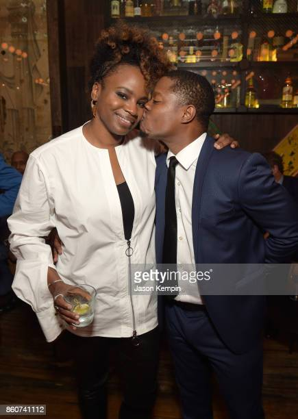 Director Dee Rees and Jason Mitchell attends the 'Mudbound' afterparty following the screening at the 55th New York Film Festival on October 12 2017