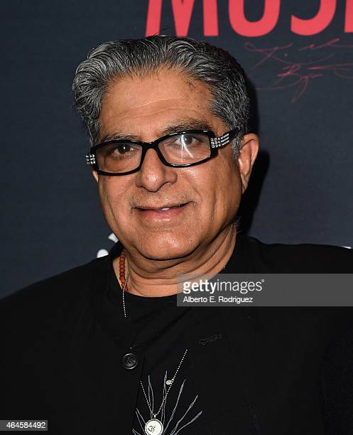 Director Deepak Chopra attends the premiere of Showtime's 'Kobe Bryant's Muse' at The London Hotel on February 26 2015 in West Hollywood California