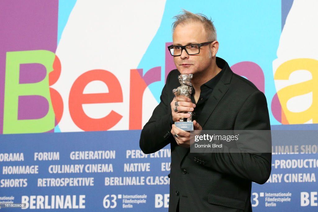 Director Denis Cote with the 'Alfred-Bauer-Reis' award at the Award Winners Press Conference during the 63rd Berlinale International Film Festival at Grand Hyatt Hotel on February 14, 2013 in Berlin, Germany.