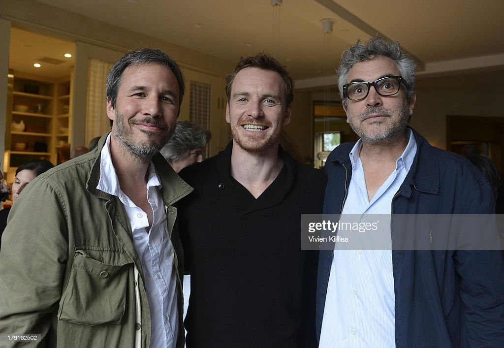Director <a gi-track='captionPersonalityLinkClicked' href=/galleries/search?phrase=Denis+Villeneuve&family=editorial&specificpeople=6688941 ng-click='$event.stopPropagation()'>Denis Villeneuve</a>, actor <a gi-track='captionPersonalityLinkClicked' href=/galleries/search?phrase=Michael+Fassbender&family=editorial&specificpeople=4157925 ng-click='$event.stopPropagation()'>Michael Fassbender</a> and director <a gi-track='captionPersonalityLinkClicked' href=/galleries/search?phrase=Alfonso+Cuaron&family=editorial&specificpeople=213792 ng-click='$event.stopPropagation()'>Alfonso Cuaron</a> attend the AMPAS party at the 2013 Telluride Film Festival - Day 3 on August 31, 2013 in Telluride, Colorado.