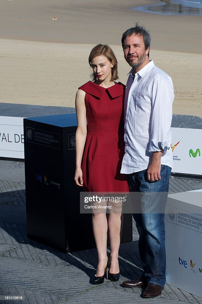 Director Denis Villeneuve and actress Sarah Gadon attend the 'Enemy' photocall during the 61th San Sebastian International Film Festival at the Kursaal Palace on September 21, 2013 in San Sebastian, Spain.