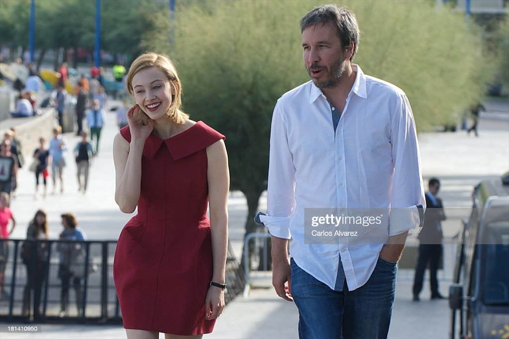 Director <a gi-track='captionPersonalityLinkClicked' href=/galleries/search?phrase=Denis+Villeneuve&family=editorial&specificpeople=6688941 ng-click='$event.stopPropagation()'>Denis Villeneuve</a> and actress <a gi-track='captionPersonalityLinkClicked' href=/galleries/search?phrase=Sarah+Gadon&family=editorial&specificpeople=6606524 ng-click='$event.stopPropagation()'>Sarah Gadon</a> attend the 'Enemy' photocall during the 61th San Sebastian International Film Festival at the Kursaal Palace on September 21, 2013 in San Sebastian, Spain.