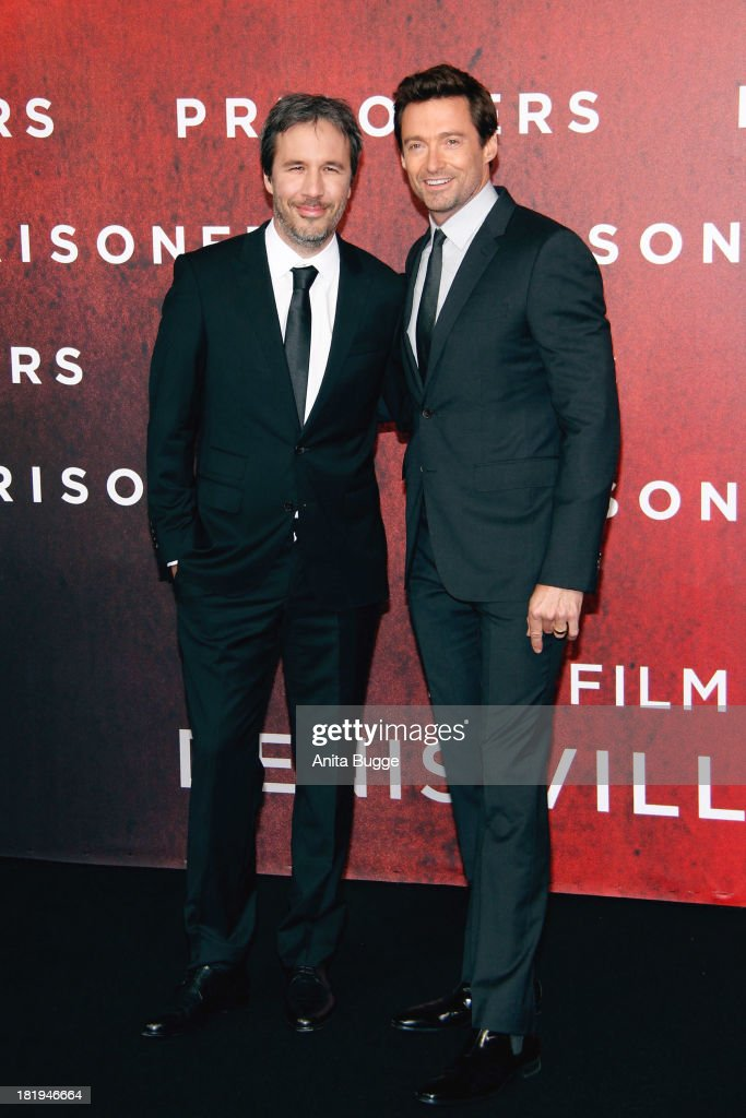 Director <a gi-track='captionPersonalityLinkClicked' href=/galleries/search?phrase=Denis+Villeneuve&family=editorial&specificpeople=6688941 ng-click='$event.stopPropagation()'>Denis Villeneuve</a> (L) and Australian actor <a gi-track='captionPersonalityLinkClicked' href=/galleries/search?phrase=Hugh+Jackman&family=editorial&specificpeople=202499 ng-click='$event.stopPropagation()'>Hugh Jackman</a>n attends the 'Prisoners' Germany Premiere at ony Centre on September 26, 2013 in Berlin, Germany.