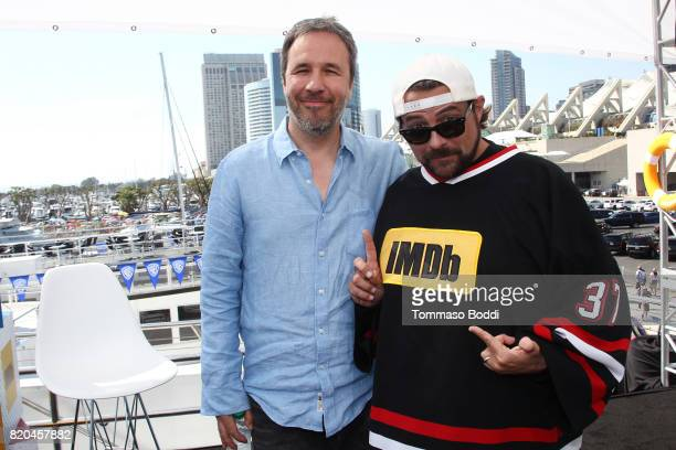 Director Denis Villeneuve and host Kevin Smith on the #IMDboat at San Diego ComicCon 2017 at The IMDb Yacht on July 21 2017 in San Diego California