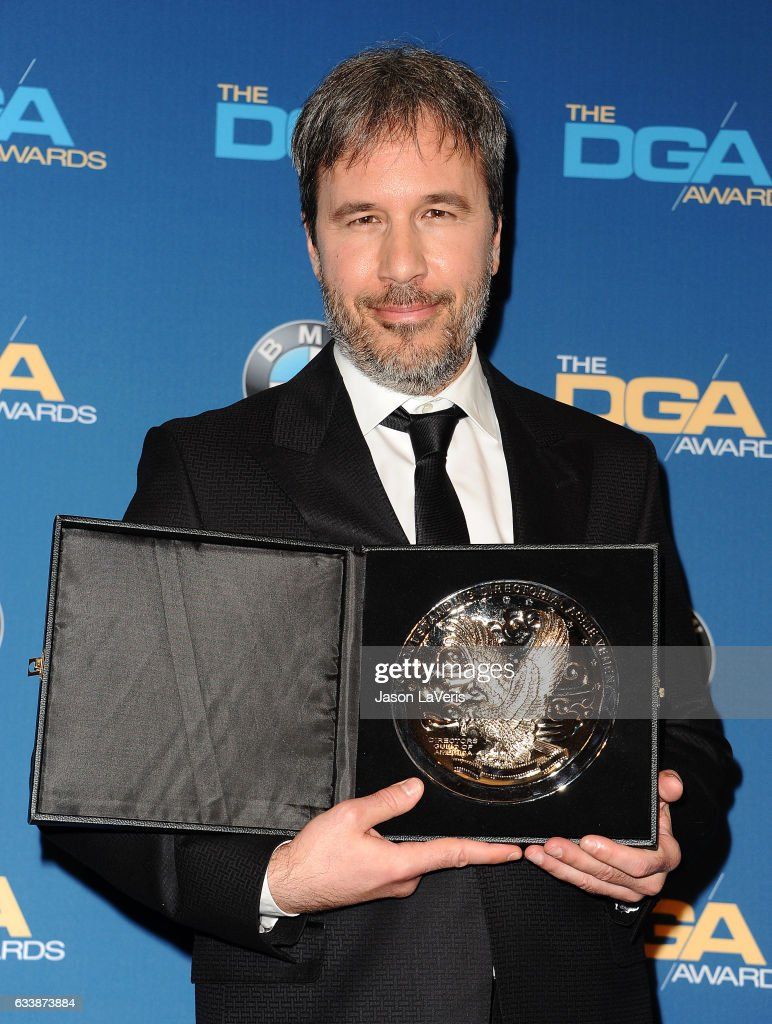 Director Denis Villeneuve poses in the press room at the 69th annual Directors Guild of America Awards at The Beverly Hilton Hotel on February 4, 2017 in Beverly Hills, California.