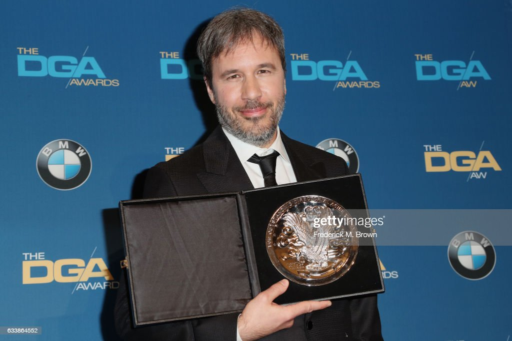 "Director Denis Villeneuve, recipient of the Feature Film Nomination Plaque for ""Arrival,"" poses in the press room during the 69th Annual Directors Guild of America Awards at The Beverly Hilton Hotel on February 4, 2017 in Beverly Hills, California."