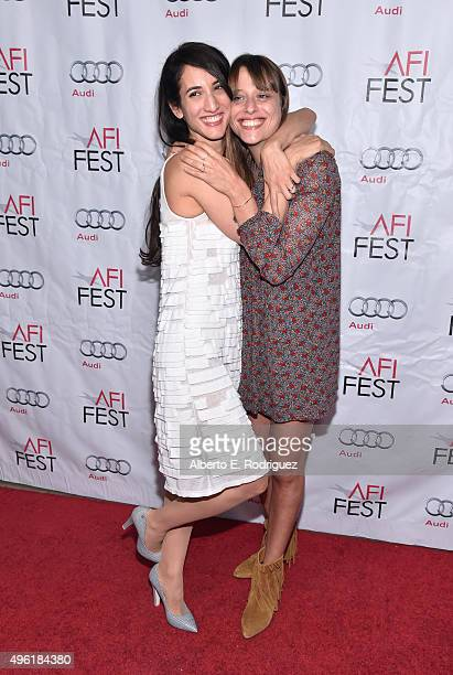 Director Deniz Erguven and writer Alice Winocour attend the photo call for Cohen Media Group's 'Mustang' during AFI FEST 2015 Presented By Audi at...