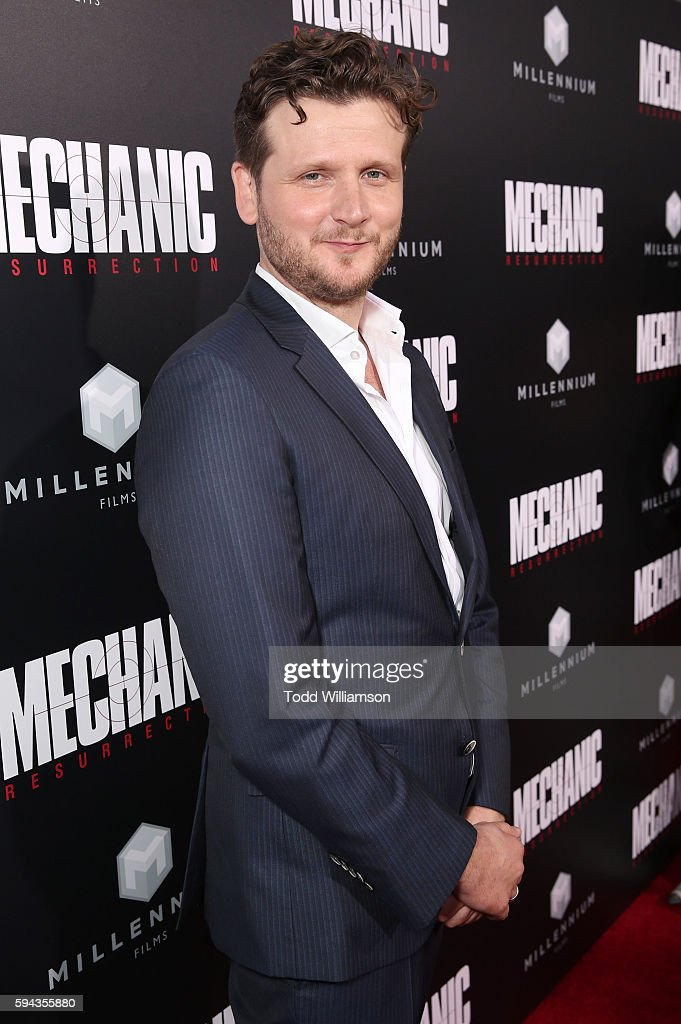 Director Dennis Gansel attends the Premiere Of Lionsgate Summit Premiere's 'Mechanic Resurrection' at ArcLight Hollywood on August 22 2016 in...