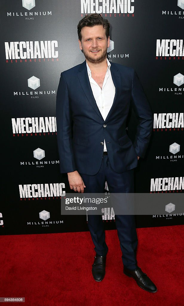 Director Dennis Gansel attends the premiere of Summit Entertainment's 'Mechanic Resurrection' at ArcLight Hollywood on August 22 2016 in Hollywood...