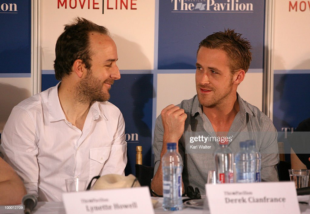 Director Derek Cianfrance and actor Ryan Gosling attends the 'Industry In Focus - Blue Valentine' at the American Pavillion during the 63rd Annual Cannes Film Festival on May 20, 2010 in Cannes, France.