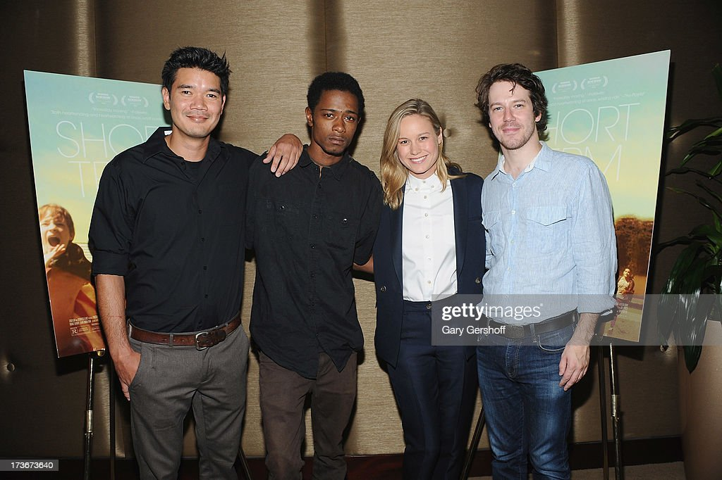 Director Destin Daniel Cretton and actors Keith Stanfield, <a gi-track='captionPersonalityLinkClicked' href=/galleries/search?phrase=Brie+Larson&family=editorial&specificpeople=171226 ng-click='$event.stopPropagation()'>Brie Larson</a> and John Gallagher Jr. attend 'Short Term 12' New York Special Screening at Dolby 88 Theater on July 16, 2013 in New York City.