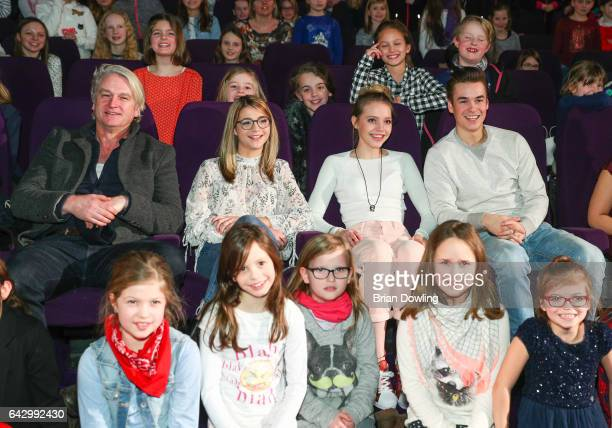 Director Detlev Buck Lisa Marie Koroll Lina Larissa Strahl and Louis Held attend a private screen with local children before their premiere of the...