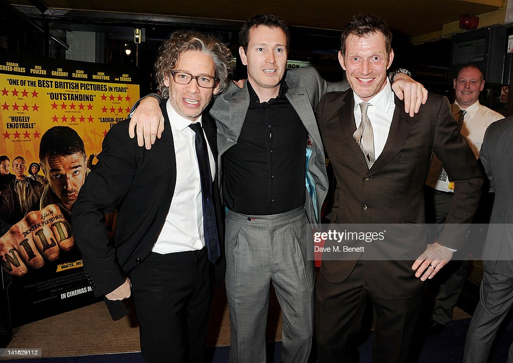 Director Dexter Fletcher and actors Nick Moran and Jason Flemyng attend the premiere of 'Wild Bill' at Cineworld Haymarket on March 20 2012 in London...